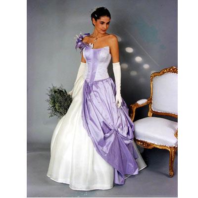 robe de mariage lavande