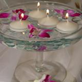 D coration de table mariage la table turquoise chocolat - Coupe en verre sur pied centre de table ...